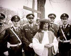 Jesus with modern day Centurians
