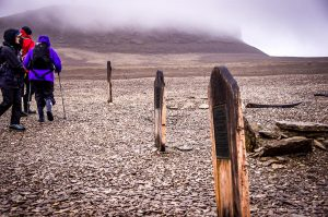 Franklin Expedition memorials on Beechey Island