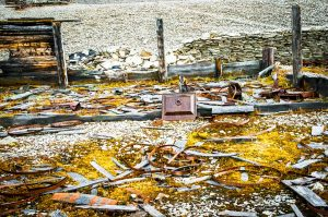 Remains of the suupply depot on Beechey Island