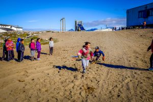 Kids in the Pond Inlet playground